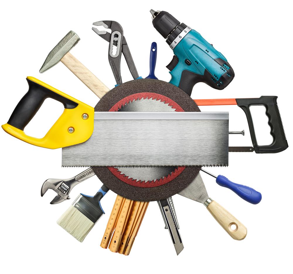 Benötigte Werkzeug für einen Unterbau für Hohlkammerplatten und Stegplatten Hammer Bohrmaschine Säge Metermass